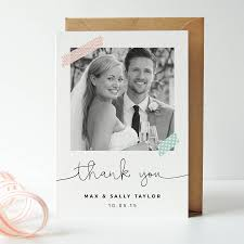 wedding thank you cards washi wedding photo thank you cards by project pretty