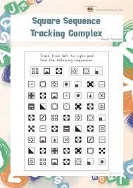 Visual Discrimination Worksheets Square Sequence Tracking Complex Individual File Download Link