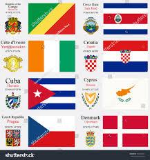San Jose Flag World Flags Republic Congo Costa Rica Stock Vector 133509941