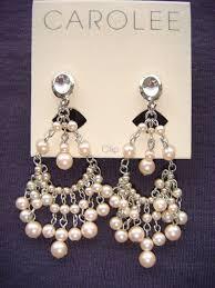 clip on chandelier earrings carolee carolee pink pearl chandelier clip earrings