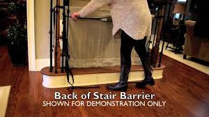 Best Stair Gate For Banisters How To Install The Stair Barrier Banister To Banister Safety Gate