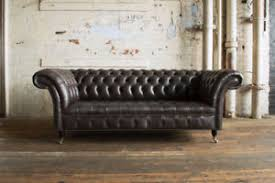 Grey Leather Chesterfield Sofa Handmade 3 Seater Vintage Charcoal Grey Leather Chesterfield Sofa