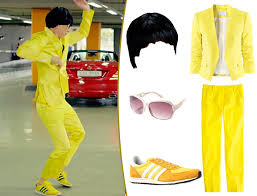 Psy Halloween Costume Psy Gangnam Style Video Yellow Suit Wwwimgarcadecom Image