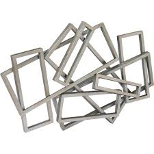 moe u0027s home collection hw 1007 30 metal rectangles wall decor in
