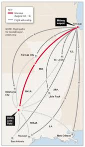 Chicago Airports Map by Fly Southwest To Dallas Infographic Chicago Tribune