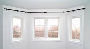 Flexible Curtain Rods For Bay Windows Beauty Bay Window Curtain Rod Fleurdujourla Com Home Magazine
