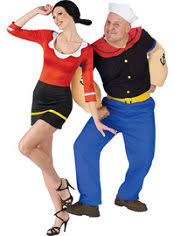 olive oyl costume olive oyl and popeye couples costumes party city