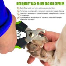 dogs nail clippers with protective guard safety lock and non slip