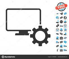 icone bureau gratuit options de bureau icône d engrenage avec bonus gratuit image