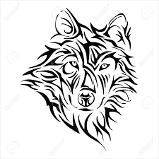 wolf head tattoo tribe vector royalty free cliparts vectors and
