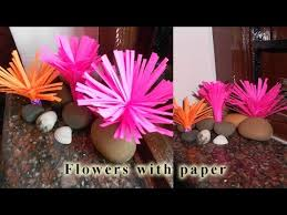 Make Flower With Paper - how to make flower with paper diy paper craft youtube