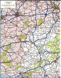 West Virginia State Parks Map by Virginia