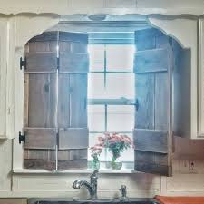 kitchen shutters farmhouse style vintage inspired wood