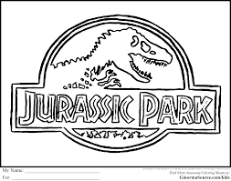 luxury jurassic park coloring book coloring page and coloring