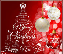 merry and happy new year 2018 greeting card images