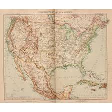 Map If The Usa by Art Nouveau Map Of The Usa Mexico Jamaica U0026 Cuba Stieler 1903