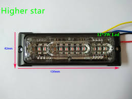 star signal emergency lights higher star extra thin 12 3w led car surface mounting strobe lights