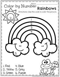 coloring page dazzling color by the number printable preschool