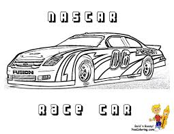 force race car coloring pages free nascar sports car