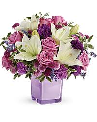 purple bouquets teleflora s pleasing purple bouquet teleflora