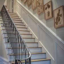 Villa Stairs Design Stairwell Wainscoting Design Ideas
