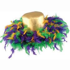 bulk mardi gras bulk mardi gras to wear party supplies mardi gras feather hat 6cs