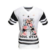 soulstar american football mesh jersey white