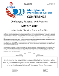2017 aboriginal u0026 workers of colour conference unifor local 112