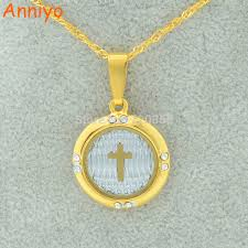catholic necklaces anniyo cross pendant necklaces chain gold color christian