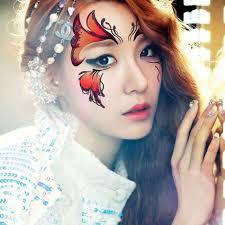2pcs lot henna eye sticker sticker butterfly