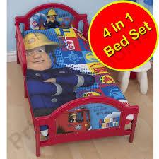 fireman sam bedding single double u0026 junior duvet cover sets boys