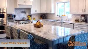 bathroom elegant kitchen design with super white quartzite