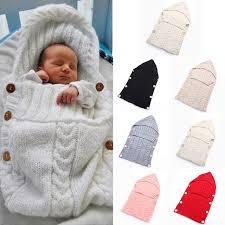 swaddle wrap baby blanket newborn infant girls boys knit crochet