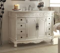 Wonderful White Bathroom Vanities With Drawers Storage And Open - White vanities for bathrooms