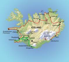 Iceland Map World Tourist Attractions Map In Iceland Rome Vacations Flag Of Hobart