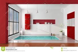 salle de bain luxe salle de bains de luxe rouge et blanche photos libres de droits