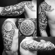 70 viking tattoos for germanic norse seafarer designs