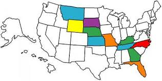 visited states map how to plan a cross country road trip