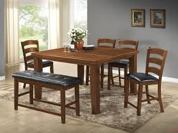 Loveseat Bench Dining Chair 59 Pub Table 4 Chairs And 1 Bench 2 Colors