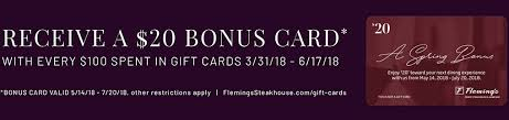 flemings gift card gift cards and egift cards available from fleming s steakhouse