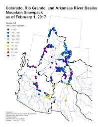 Map Colorado by Mountain Snowpack Map Colorado River