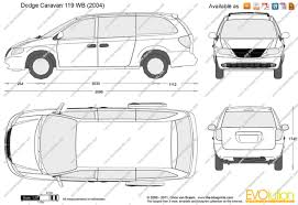 the blueprints com vector drawing dodge caravan 119 wb