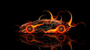 bugatti concept gangloff bugatti veyron side fire abstract car 2014 el tony