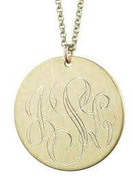 gold engraved necklace 1 inch 12k gold plated engraved disc necklace reese witherspoon