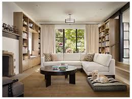 purple throw pillows modern glam living room dark wood floors wall