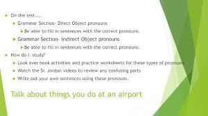 spanish 2 unit 1 1 test info ppt video online download