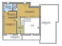 plan maison moderne contemporaine avec mezzanine
