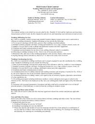 event planning contract templates free sample event coordinator