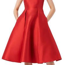 sleeveless mikado fit u0026 flare midi dress from adrianna papell