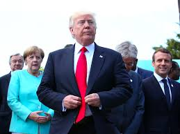 g7 leaders took a stroll in sicily u2014 and trump followed in a golf